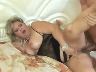 Horny chubby mature anal..