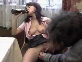 russian wife has fun