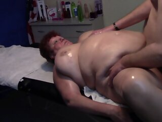 BBW Mature Gets Massage and..
