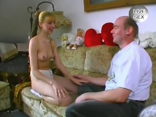 Young Girl Swallow Old Cum..