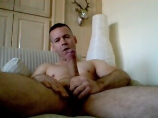 Jerking and shooting my big..