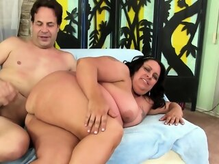 BBW Lacy Bangs Lets Him Use..