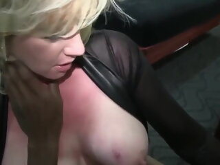Busty Blonde Wife Enjoys BBC..