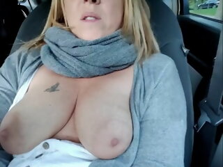 German MILF Squirts Outdoors