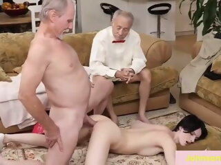 2 old men having sex with..