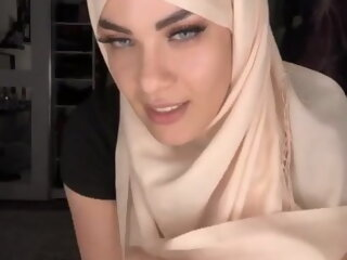 Arab girl wearing a hijab in..