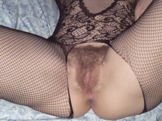 Wife in bodystockings gets..