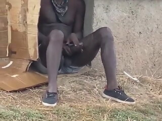 Horny homeless dude