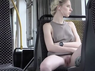 Hot blonde enjoys public..